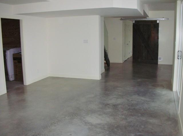 Modern Natural Eco Friendly Basement Concrete Floors