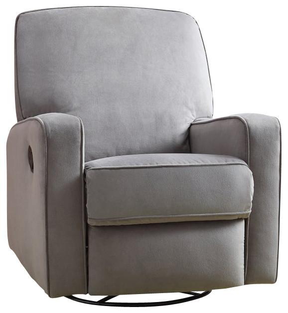 Pri Sutton Swivel Glider Recliner Stella Zen Grey Contemporary Rocking Chairs By Cymax