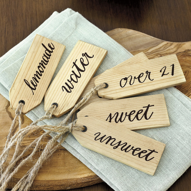 Beverage Tags - Set of 6 farmhouse-tabletop