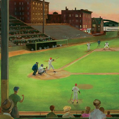 Baseball field stadium large sports wallpaper mural for Baseball field mural