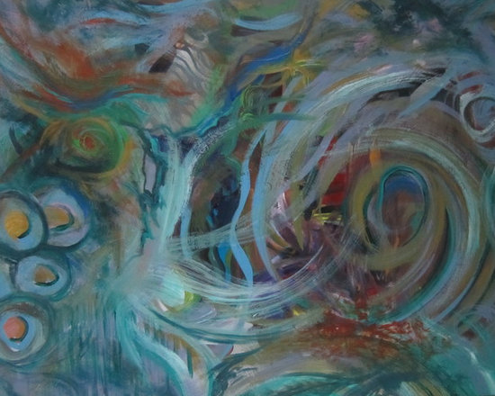 Original Artwork - Abstract Painting 4x5 feet (SOLD) -
