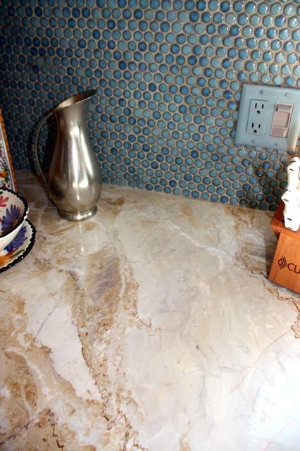 White Quartzite Countertops contemporary