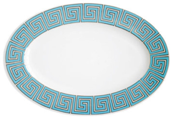 Greek Key Serving Platter contemporary-serving-dishes-and-platters