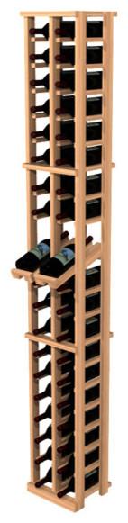 Traditional Redwood 2-Column Wine Rack with Display Row contemporary-wine-racks