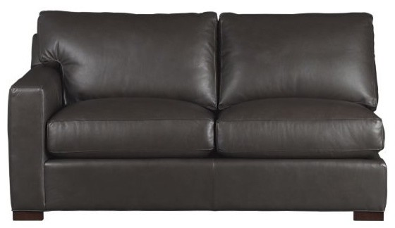 Axis Leather Left Arm Sectional Apartment Sofa modern-sectional-sofas