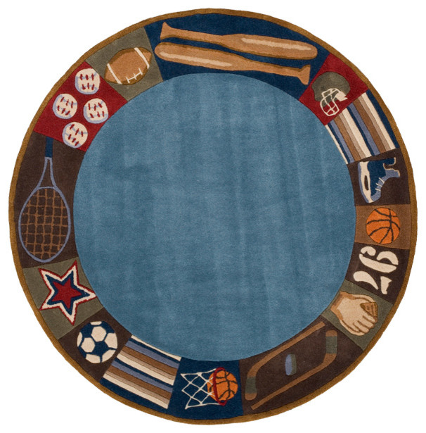 Good Whimsy Sports Round Rug   Modern   Rugs   By Rosenberry Rooms