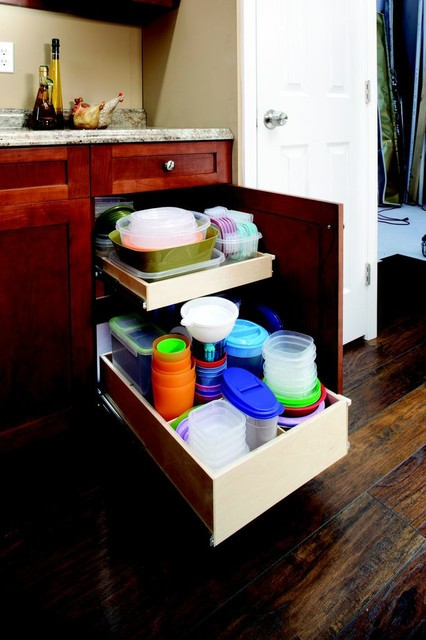 Roll Out Shelves with Dividers cabinet-and-drawer-organizers