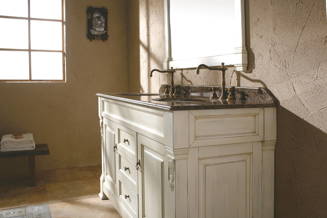 "60"" Bosco Double Bath Vanity - Antique White traditional-bathroom-vanities-and-sink-consoles"