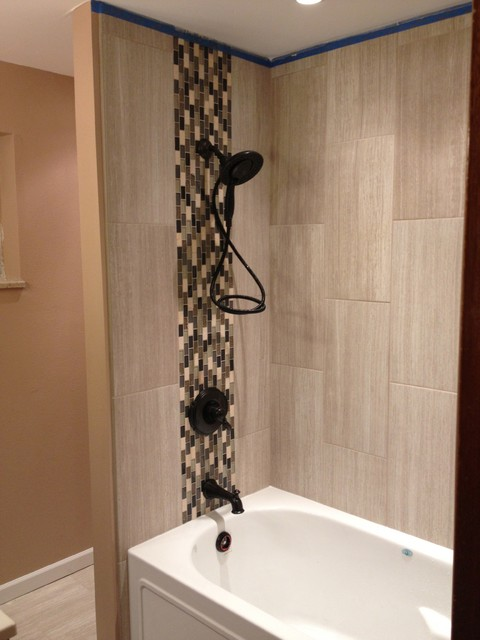 Brilliant Vertical Shower Tile My Favorite Part Was How The White Tiles In The