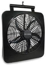 O2-Cool Battery-Operated Fan, Black