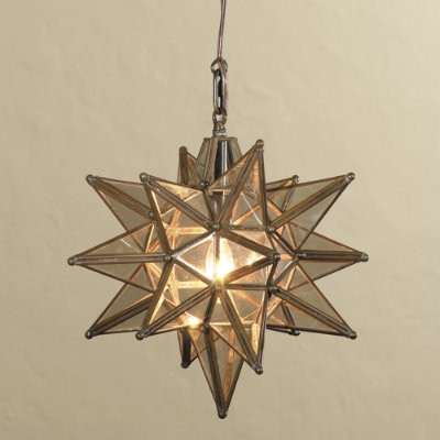 Moravian star pendant light midcentury pendant for Mediterranean lighting fixtures