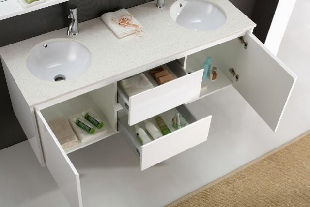 Luxor 1500mm bathroom vanity with soft closings modern for Luxor baths