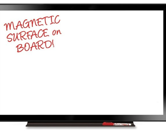 "The Board Dudes - The Board Dudes Magnetic Dry-Erase Boards, 36""x 24"", White and Black - Magnetic, dry-erase board features a reliable surface that resists staining and ghosting and doubles as a bulletin board when used with magnets (sold separately). Black frame is made of aluminum. Board also includes attachable tray and mounting hardware."