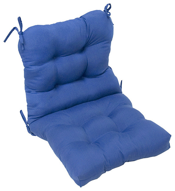 Outdoor Marine Blue Seat Back Chair Cushion Contemporary Outdoor Lounge