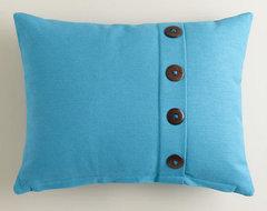 Blue Moon Button Ribbed Lumbar Pillow   World Market
