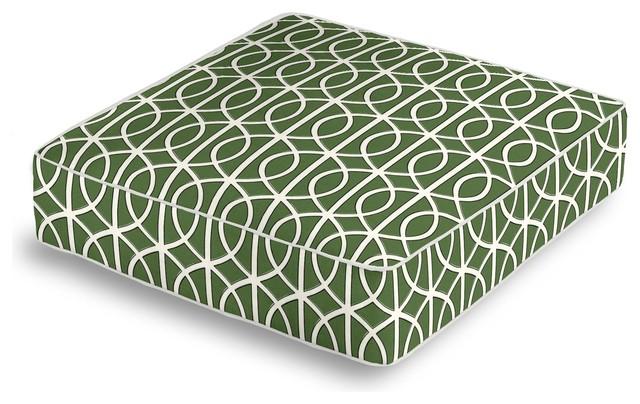 green modern trellis box floor pillow contemporary