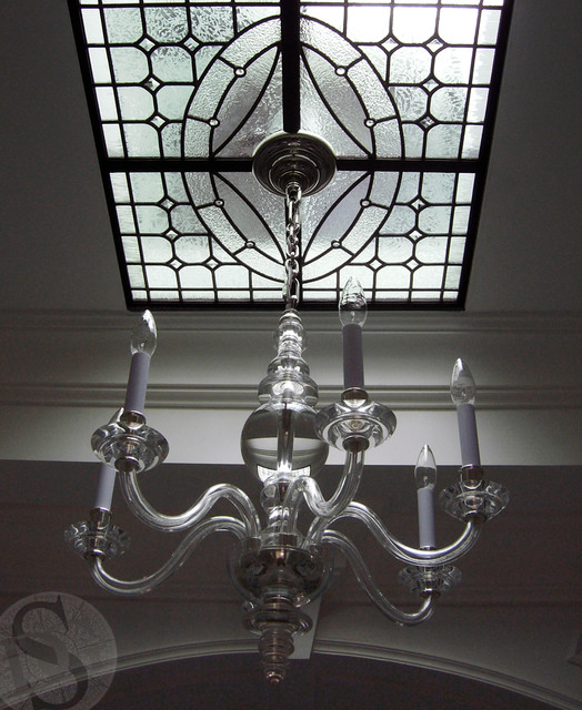 Lens w/ Chandelier traditional-skylights