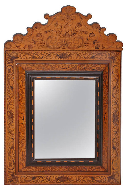 18th century dutch marquetry mirror from curacao in the for 18th century window treatments