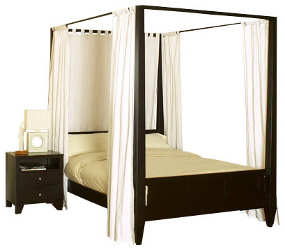 Lifestyle Solutions Wilshire 4 Piece Canopy Bedroom Set In Cappuccino King Traditional