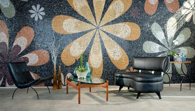 Fabulous Flowers Mosaic contemporary