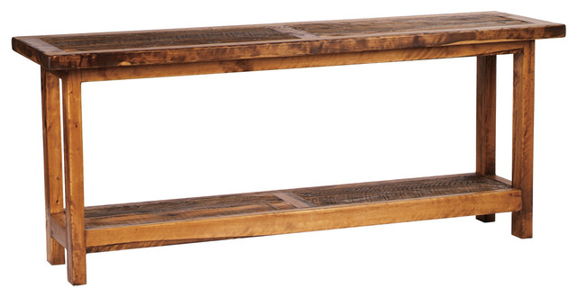 5 foot rustic barnwood reclaimed wood sofa table 60 inch for Sofa table 50 inches
