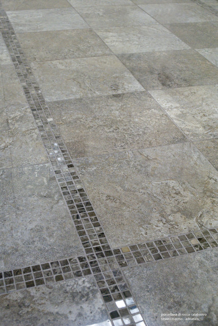 Alabastro - Alabaster Travertine Stone Look Porcelain Tile contemporary-floor-tiles