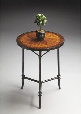 Butler Accent Table - Metalworks - 18 diam. in. modern-side-tables-and-end-tables