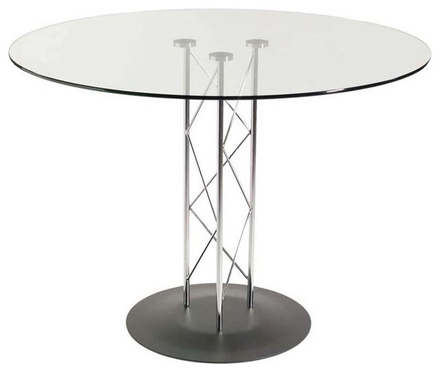 Eurostyle Trave 36 Inch Round Glass Dining Table W