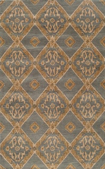 "Habitat-13 Rug, Blue, 5'-0"" x 8'-0"" eclectic-rugs"