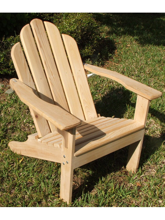 Cypress Adirondack chair - What makes this chair different is that is is very comfortable . It has a contoured seat and a curved back, wide arms and set a perfect height for most people.