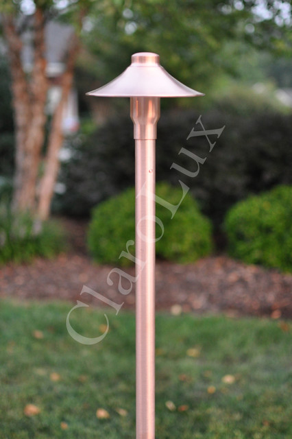 CL AL1 I LED Copper Path Light Traditional Path Lights Charlotte By C