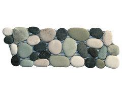 Bali Turtle Pebble Tile Border rustic-accent-trim-and-border-tile