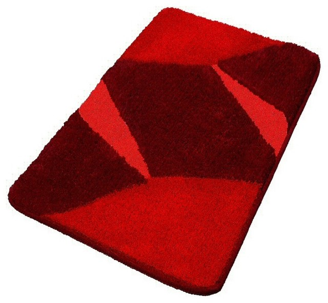 Red Luxury Non Slip Washable Bathroom Rugs Large Contemporary Bath Mats By Vita Futura