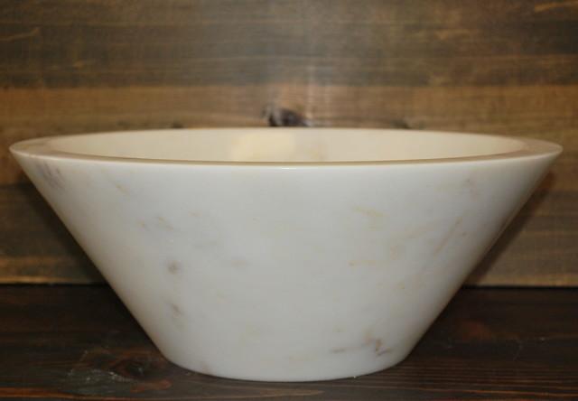 AFYON WHITE MARBLE SINK / DEEP V bathroom-sinks