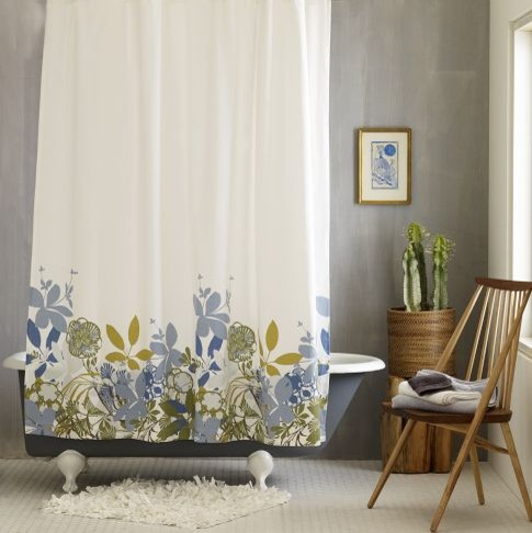 Spring Floral Shower Curtain contemporary shower curtains