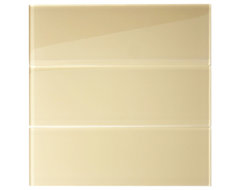 "Khaki Glass 4"" x 12"" Subway Tile transitional-tile"
