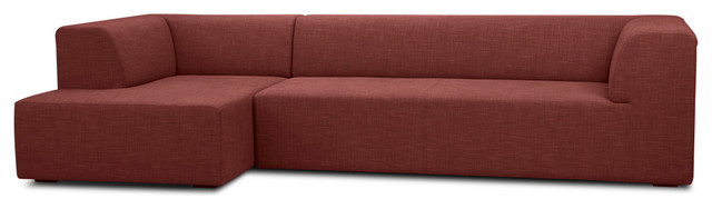 Seed IV Red Modular Couch Set Right modern-sectional-sofas