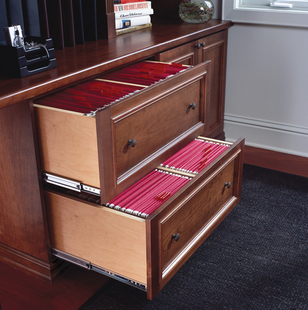Built-in Home Office File Cabinet - Traditional - other metro - by transFORM | The Art of Custom ...