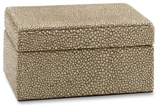 Faux Shagreen Box Contemporary Decorative Boxes By