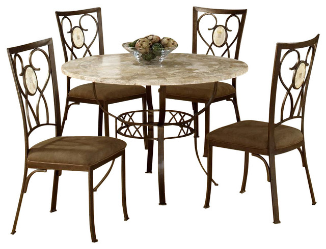 Pedestal style round dining table with fossil contemporary dining sets by ivgstores - Pedestal kitchen table set ...