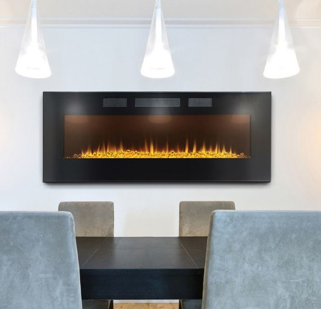 Napoleon 50 In Slimline Wall Mount Electric Fireplace