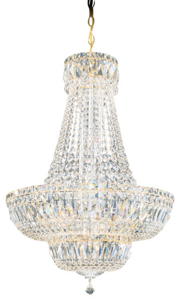Schonbek Lighting 6616-20A Petit Crystal Deluxe Gold 20 Light Chandelier traditional-chandeliers