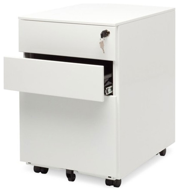 Blu Dot Filing Cabinet No. 1, White - Modern - Filing Cabinets - by ...