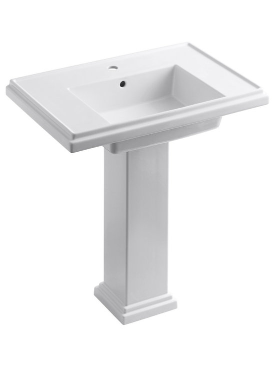 "KOHLER - KOHLER Tresham 30"" Pedestal Lavatory w/ Single-Hole Faucet Drilling - KOHLER Tresham 30"" pedestal lavatory with Single-Hole Faucet Drilling"