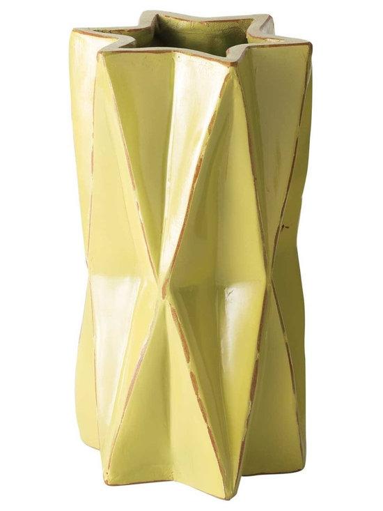 Kiwi Origami Vase -