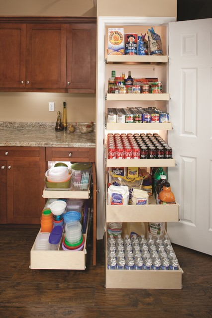 Pull Out Pantry Shelves - Contemporary - other metro - by ShelfGenie ...