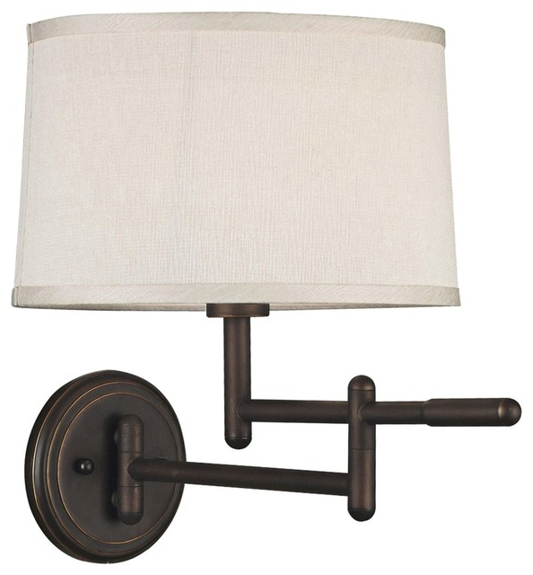 Modern Wall Sconces Plug In : Contemporary Kenroy Home Theta Bronze Plug-In Swing Arm Wall Light - Contemporary - Swing Arm ...