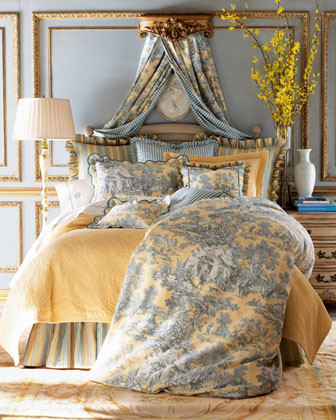 Legacy Home Lutece Cypress Linens Full Toile Duvet Cover traditional-duvet-covers