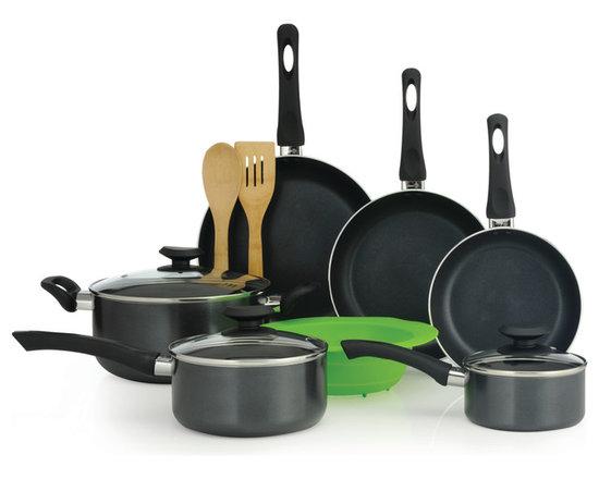 EPOCA - Elements 12pc Set - Grey - Ecolution Elements 12 Piece Nonstick Cookware Set