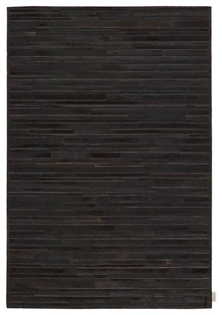 Calvin Klein Home Prairie Modern Marble Pile Print Black 8' x 10' Cowhide Rug by contemporary-rugs